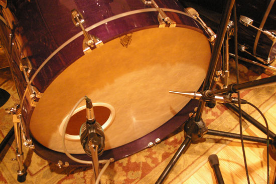 First Kick Drum: AKG D112 and Earthworks TC25