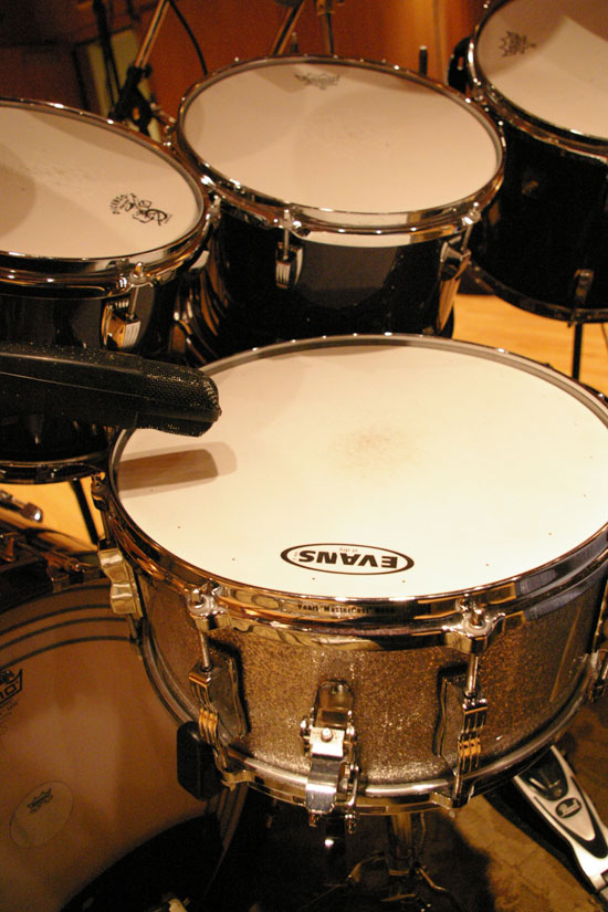 Snare Drum: Sennheiser 421 Over the Head (Warning: Never Try This Without A Great Pro Drummer