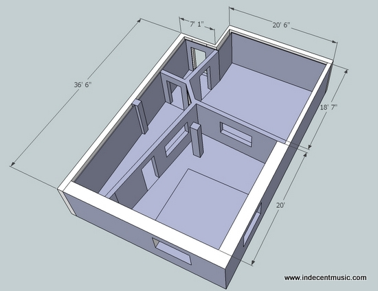Studio diy recording studio diy acoustics for Studio layout plan