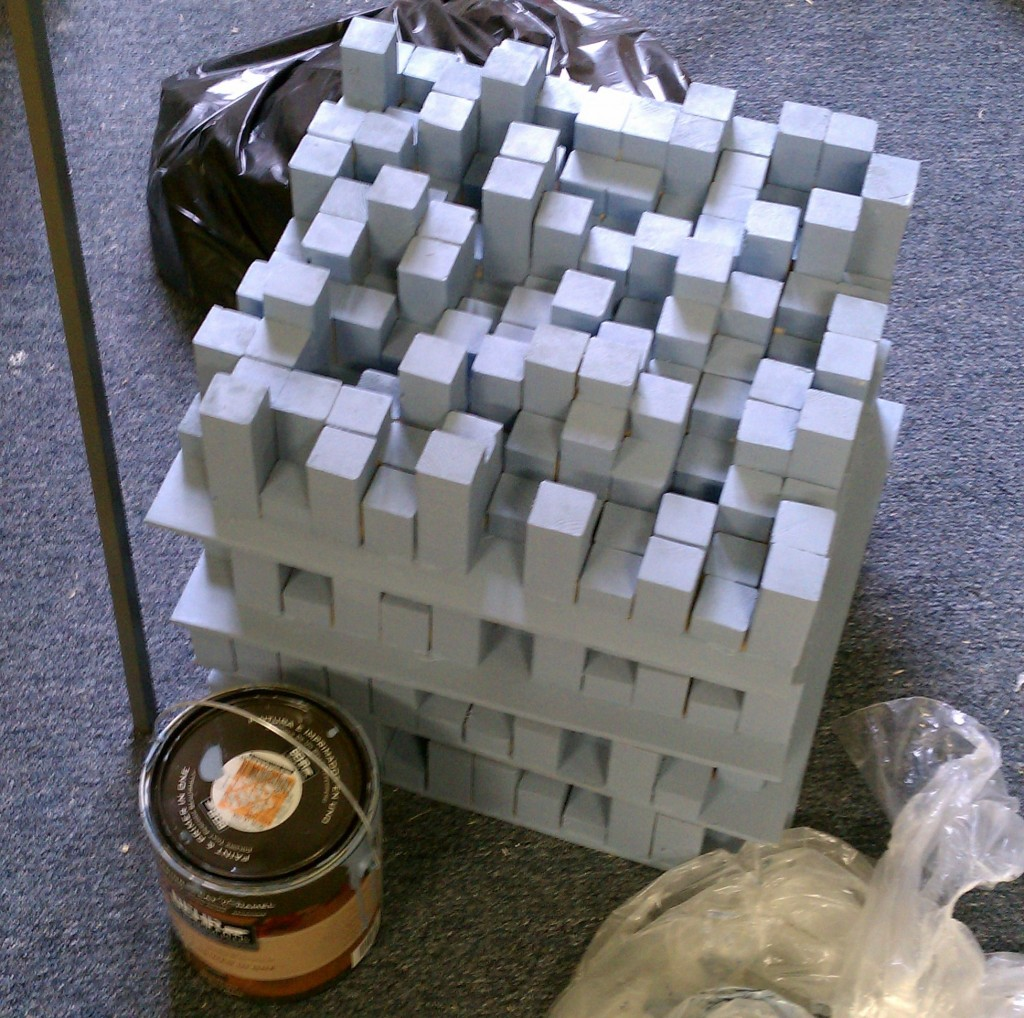 Stack of 2D QRD Diffusers