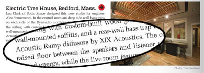 Acoustic Ramps in June's Mix Magazine