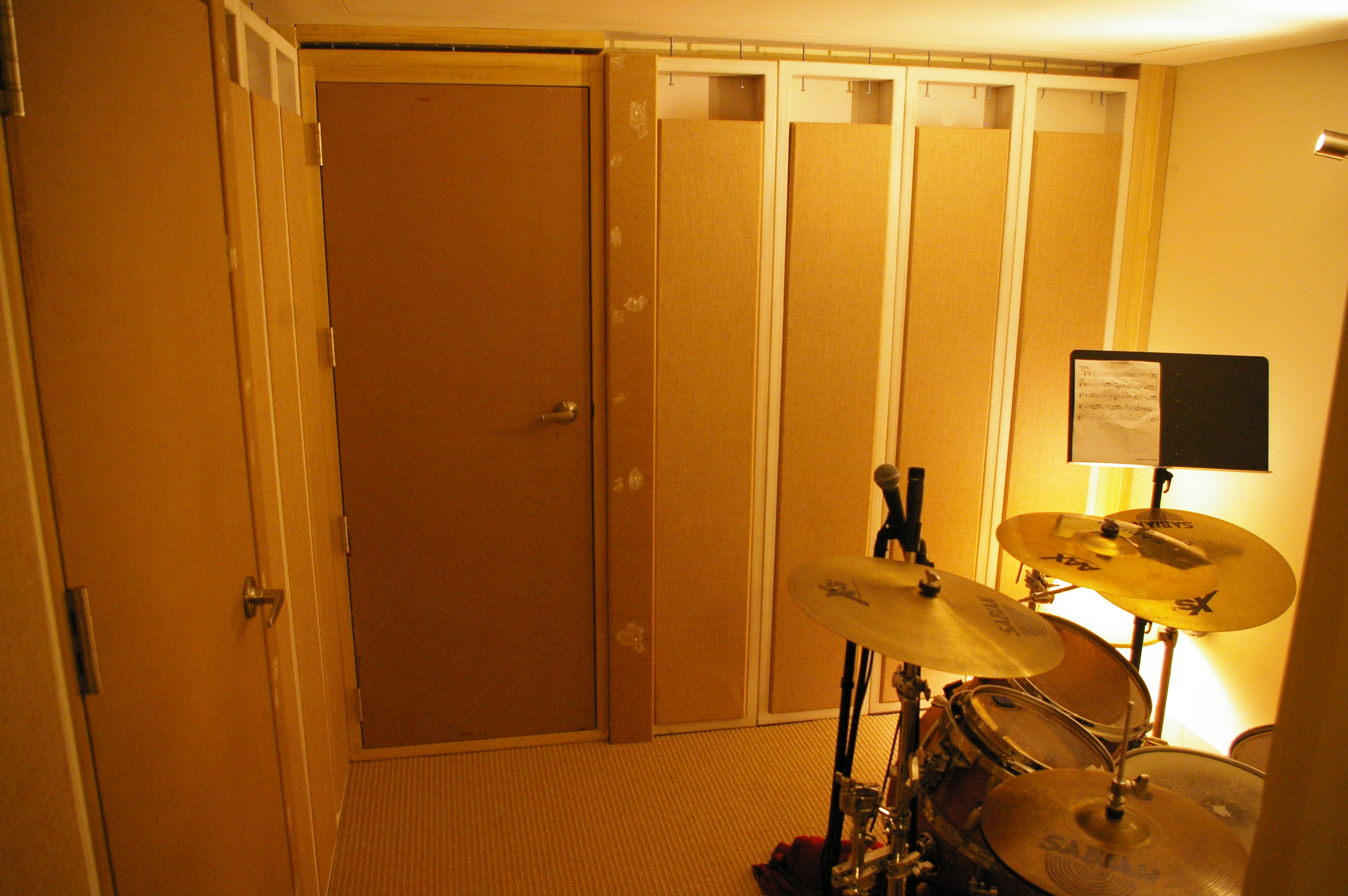 Removable Drum Isolation Room