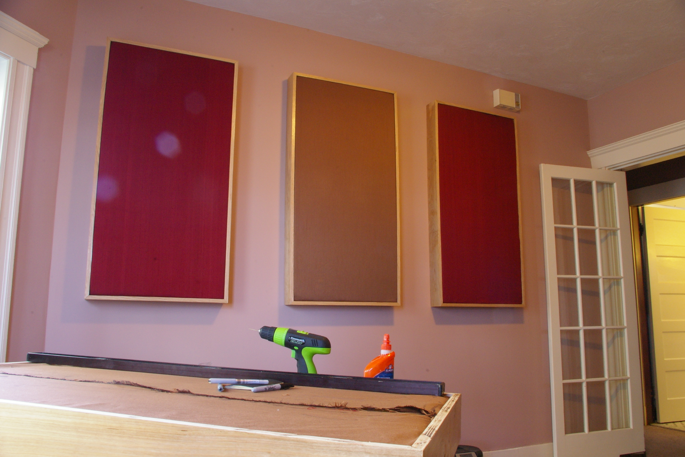 Custom acoustic treatment photos xix acoustics - Bedroom studio acoustic treatment ...